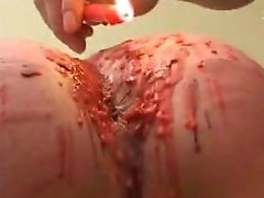 Pour hot wax in all holes.